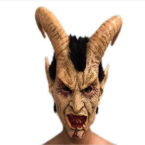 Halloween Horror Luzifer Maske, Volles Gesicht Weich Und Bequem, Geeignet Für Erwachsene Rollenspiel Dekoration Accessoires