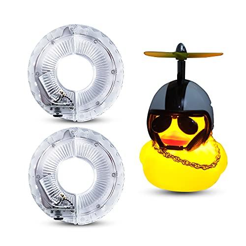 Comistack Luces de neumáticos Radios de bicicleta,Luces de radios Luces de rueda recargables,Rueda de bicicleta con Luces rueda bicicleta Accesorios de bicicleta para niños