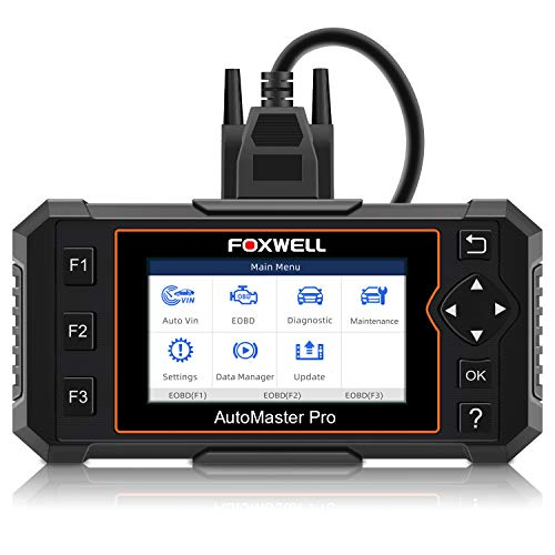 FOXWELL NT614 Elite OBDII Car OBD2 Scanner Diagnostic Scan Tool Transmission Engine ABS Airbag Code Reader EPB Tool with Maintenance Light Reset Free Carrying Case NT614 Enhanced 2019 Version