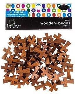 Dark Brown Wooden Cross Beads
