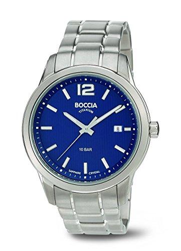 Boccia Herren-Armbanduhr XL Analog Quarz Titan 3581-02
