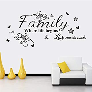 Love Family 3D Wall Sticker Home Decor Wall Decal for Kids Bedroom Living Room Wallpaper