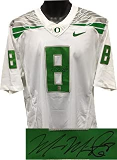 Marcus Mariota Signed Jersey - Nike White Limited Twill #8 L Hologram - Autographed College Jerseys
