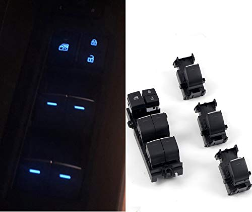 HIGH FLYING Car LED Power Window Switch Control, Switch Panel Replacements Set for Toyota RAV4 XA50 2019 2020 2021 (Whole set 4 pieces)