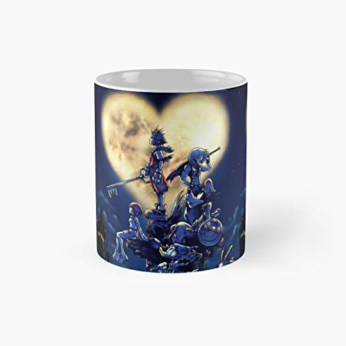 Kingdom Hearts - Taza de café con diseño de corazones (325 ml)
