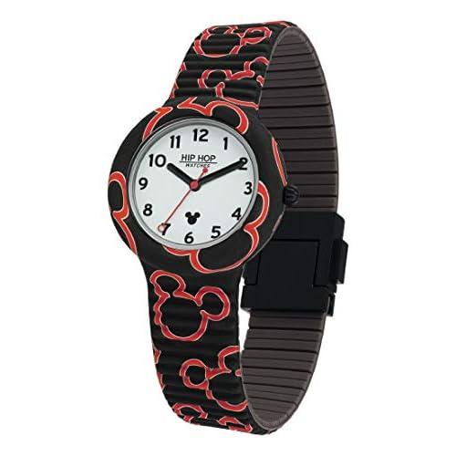 Hip Hop Watches - Orologio Mickey Mouse Unisex Edizione Speciale Anniversario Topolino - Collezione Mickey Retro - Cinturino in Silicone - Cassa 35mm - Impermeabile - Face Art