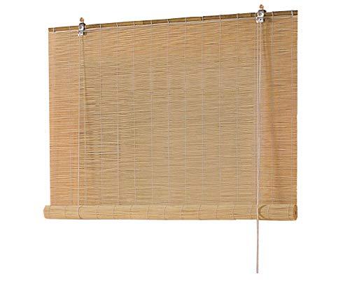 Good Life Bambusrollo Seitenzug Fenster Rollos Raffrollo Holzrollo Natur Sichtschutz Länge 160 cm Breite 60-160 cm (100 x 160 cm)