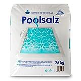Salinen Austria POOLSALZ 25kg für Salzwasser-Pool & Schwimmbad I hochreines Siedesalz, 99,9% NaCI I schnell löslich, geeignet für alle Salz-Elektrolyseanlagen/Chlorinatoren