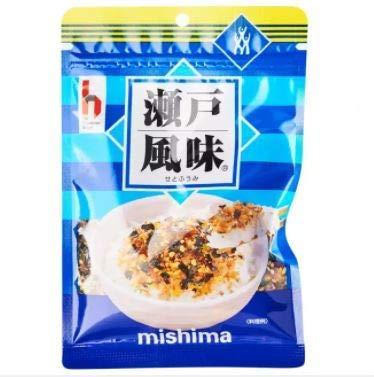 Mishima Seto Fumi Furikake - Topping per riso giapponese, 40 g, ottimo condimento multiuso per involtini di sushi o insalate