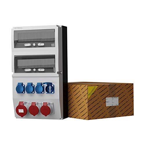 Stromverteiler eXT 32A 2x16A 4x230V Mennekes Dosen Wandverteiler Steckdosenverteiler Baustromverteiler Doktorvolt 2285