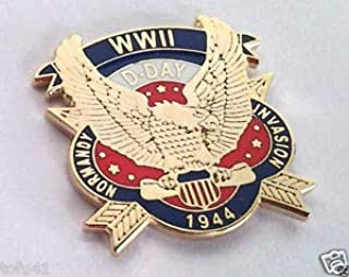 Popular Enamel Lapel pins - WWII D-Day 1944 Normandy INVAS.World War II Military Veteran Hat Pin - Fashion Pins and Brooches