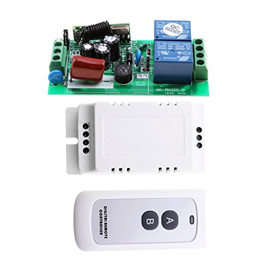 FLAMEER Universal 2CH Channel LED Lampe Télécommande sans Fil RF 2 Relais Récepteur