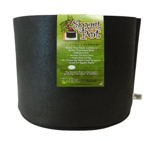 Smart Pots 7-Gallon Smart Pot Soft-Sided Container, Black