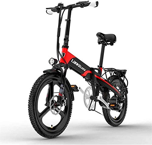 Electric Bike Electric Mountain Bike, 20 Inch Electric Mountain Bike 400W Motor 48V 10.4Ah Removable battery With LCD Display & Rear Carrier 5 Level Pedal Assist Long Endurance for the jungle trails,