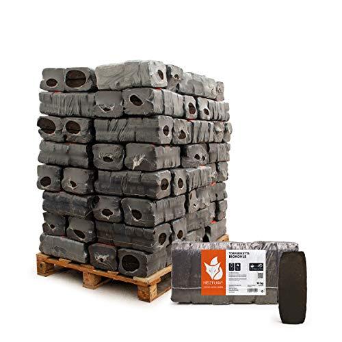 PALIGO Torfbriketts Ruf Bio Braunkohle Torf Gluthalter Dauerbrenner Kamin Ofen Brenn Holz Heiz Kohle Brikett 10kg x 96 Gebinde 960kg / 1 Palette Heizfuxx