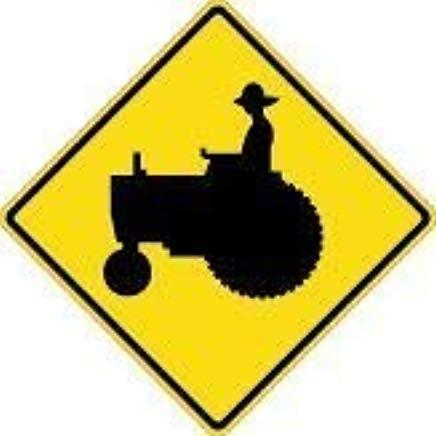 Modtory Yard Hek Garage Decoratieve Teken Boer Tractor Crossing Zone Veiligheidsbord Metalen huisdier Teken Gift
