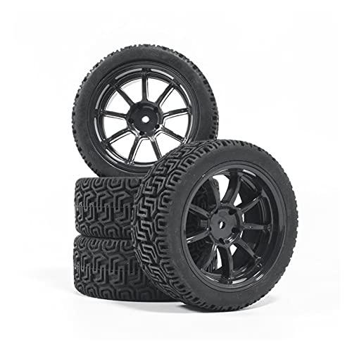 UGUTER ZLD 4 unids RC 1/10 Rueda de neumáticos 12 mm hexadecimal 1:10 HPI SCX10 TRX-4 TRX4 HPI RC RC RC Care TIENDO RC Rally (Color : Yellow)
