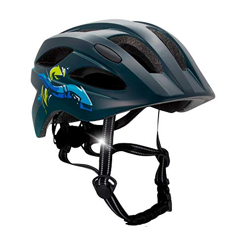 Crazy Safety Fahrradhelm für Kinder (Blau, 54-58)
