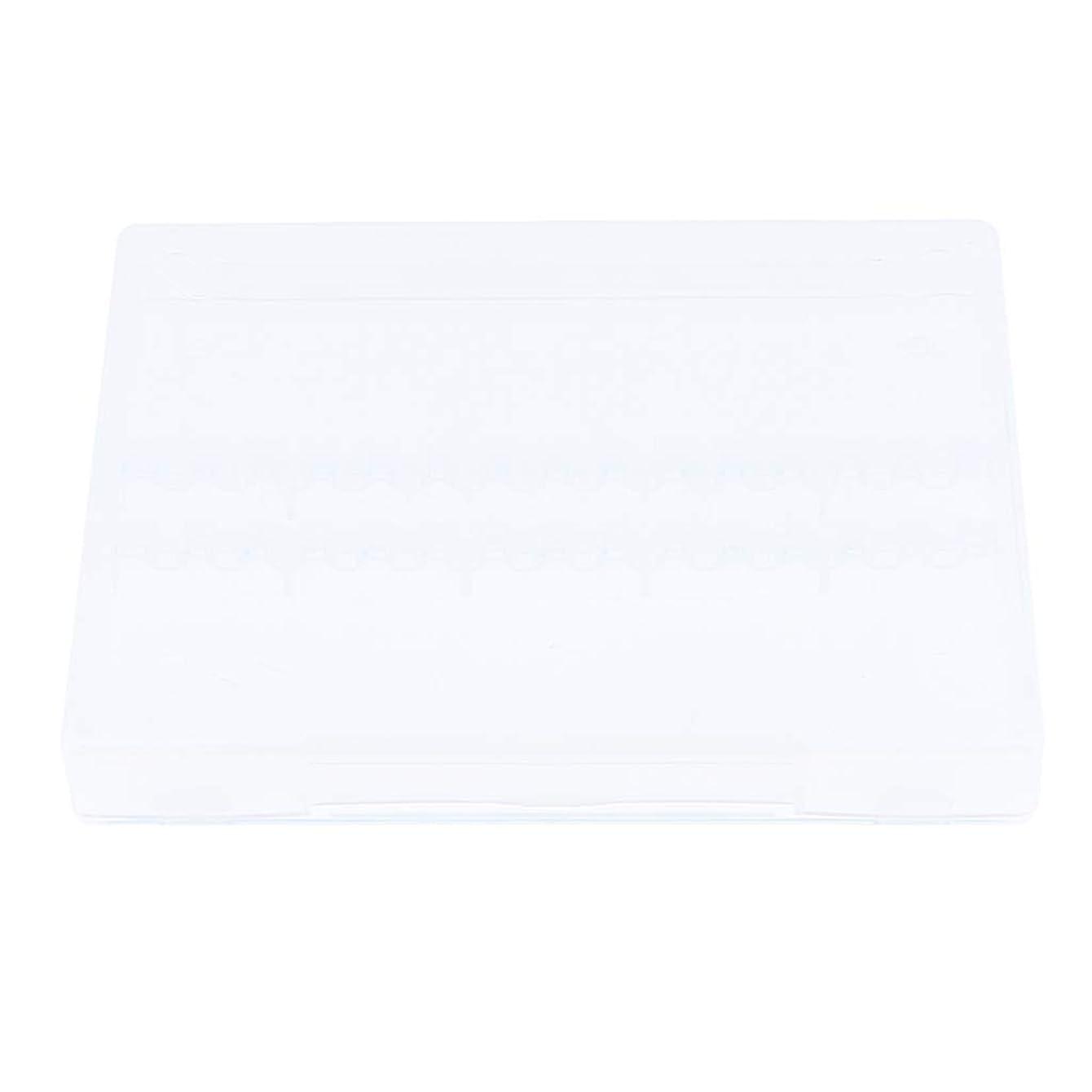 Sharplace ネイルアート ネイルドリルビット ホルダー 空ボックス 収納 オーガナイザー 2色選べ - クリア