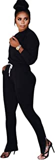 ECHOINE Women's Casual 2 Piece Outfits - Crew Neck Pullover and Pants Jogging Suits Sport Jumpsuits S XXL