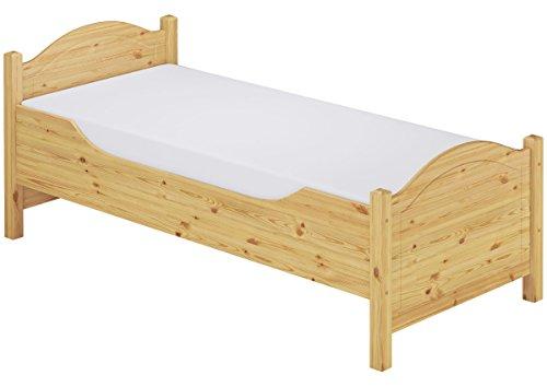 Erst-Holz® Seniorenbett extra hoch Einzelbett 120x220 Überlänge Holzbett Rollrost Matratze 60.40-12-220 M