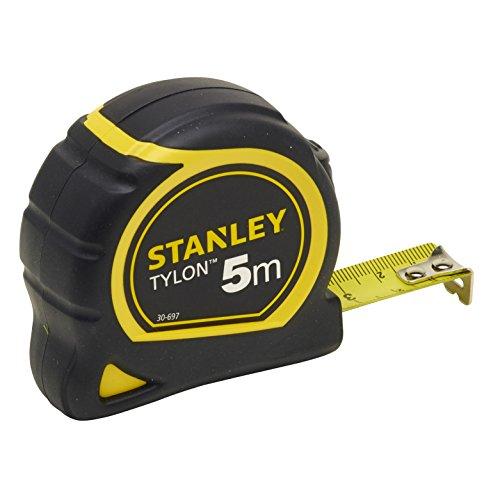Stanley Bandmass Tylon, 5 m, Tylon-Polymer Schutzschicht, verschiebbarer Endhaken, Kunststoffgehäuse, 1-30-697