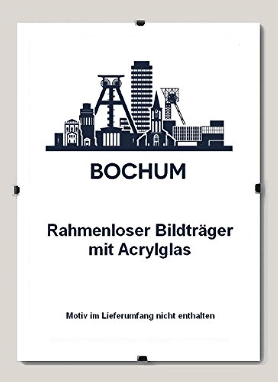 5 Bildhalter Bochum Rahmenloser Bildhalter 70 x 100 cm Cliprahmen 100 x 70 cm (Stückpreis nur 16,13   ) hier  mit Acrylglas Antireflex 1 mm