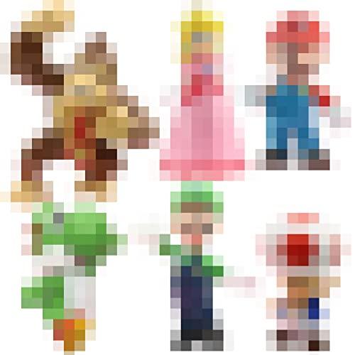SZWL Cake Toppers, 6 Pezzi Cartoon Animal Birthay Cake Toppers, miglior Regalo per i Bambini.