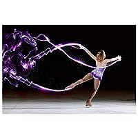 Ipea フィギュアスケートの美しい少女壁アートポスターキャンバス絵画写真壁の装飾部屋の装飾家の装飾(23.62X35.43インチ)60X90Cmフレームなし
