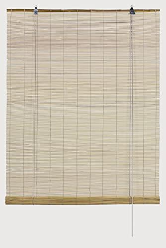 Tenda a rullo in bambù naturale GARDINIA, montaggio a soffitto o a parete, traslucido, opaco, tutti gli elementi di montaggio inclusi, 60 x 160 cm (LxA)