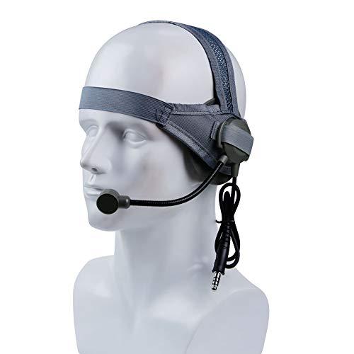 SGOYH Airsoft Paintball Tactische Headset Oordopjes Jagen Schieten Walkie Talkie Helm koptelefoon met Microfoon Standaard Plug