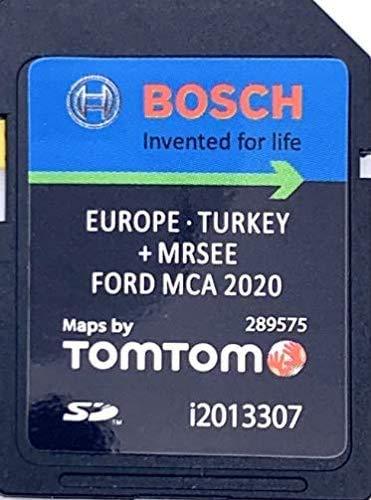 Neueste SD-Karte 2020/2021 für Ford MCA SD Karte 2020/2021 Touchscreen – Focus Kuga Mondeo S-Max Galaxy – Karte für ganz Europa V10, Teilenummer: i2013307