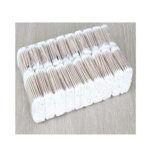 10 Packs / 300pcs / coton-tige cosmétique coton-tige à double tête maquillage bâton en bois nez oreille nettoyage cosmétique