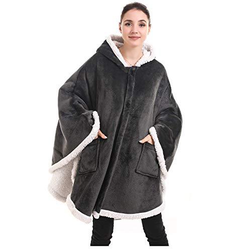 Übergroße Hoodie Sweatshirt, Original Decke Sweatshirt, super weiche gemütliche warme komfortable Riesen-Hoodie, 1 Größe passt alle, Männer, Frauen, Jugendliche
