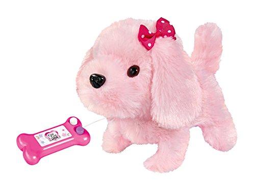 Simba 105893237 - Chi Chi Love Little Puppy, zwei Funktionen, kabelgesteuert, läuft, bellt und wackelt mit dem Schwanz, 17cm, ab 3 Jahren