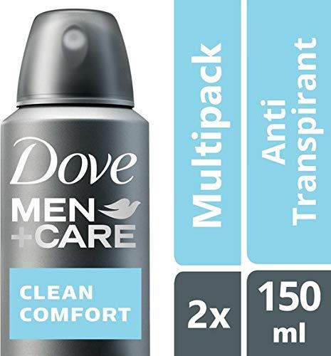 Dove Men+Care Clean Comfort Deodorant - 2 x 150 ml - voordeelverpakking