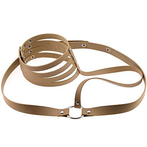 Cintura da Cintura in Pelle da Donna con Scollo a Barchetta e Cintura (H)
