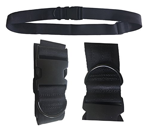 Universal Seat Belt for Wheelchair SB88-MEOS-Black, Up to 60' Adjustable