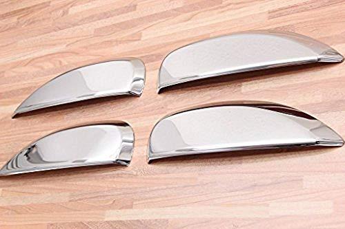 Cubiertas cromadas para manijas de puertas, de acero inoxidable, para coches Dacia Logan, Sandero II a partir del 2013 y Stepway