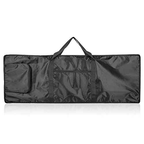 Neewer 88-Key Keyboard Bag with Extra Pockets for Electric Piano, Made of Durable and Waterproof Nylon, Adjustable and Portable Backpack Straps, Black
