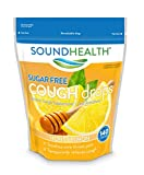 SoundHealth Sugar-Free Cough Drops, Cough Suppressant Throat Lozenge, Honey Lemon Flavor, 140 Count Bag