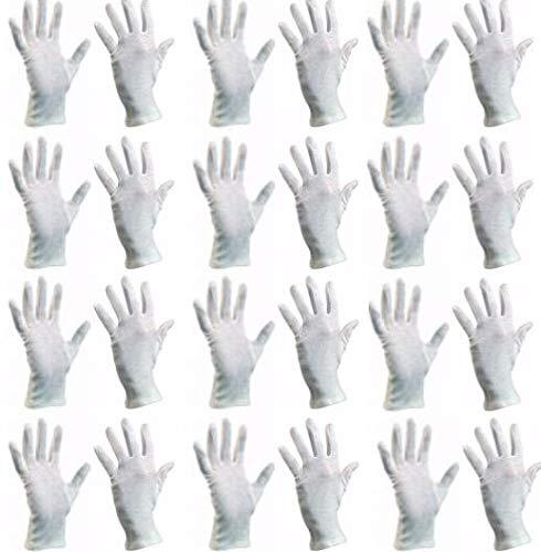 (7/S) Baumwollhandschuhe (24 Stück) Schutzhandschuhe, Baumwolle Handschuhe, Stoffhandschuhe, Cotton Gloves, Arbeitshandschuhe, Sporthandschuhe | Damen Herren Kinder | Größen XS, S, M, L, XL, XXL