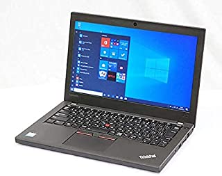 Webカメラ内蔵【Win 10搭載】軽量薄型LENOVO ThinkPad X270 ★第6世代Core i5 2.4GHz/8GBメモリ/SSD 256GB/12インチFHD/WiFi/Bluetooth【Office、無線マウス】中古パソコ...