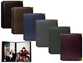 """Best Pioneer Wallet Oxford Bound Photo Album, Solid Color Sewn Leatherette Covers with Brass Accent Corners, Holds 24 2.5x3.5"""" Wallet Photos, 1 Per Page, Color: Brown. Review"""