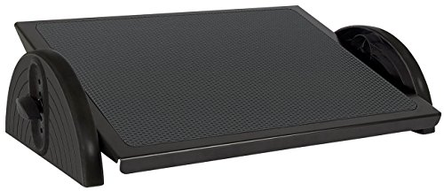 Wedo 2755001 Repose-pieds RELAX-STEEL réglable DIN 4556 Noir