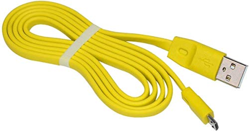 Aiivioll-Repuesto del cable de carga UE, cable de alimentación USB plano compatible con Logitech UE Boom Megaboom Miniboom Boom2 Roll altavoz inalámbrico (amarillo)