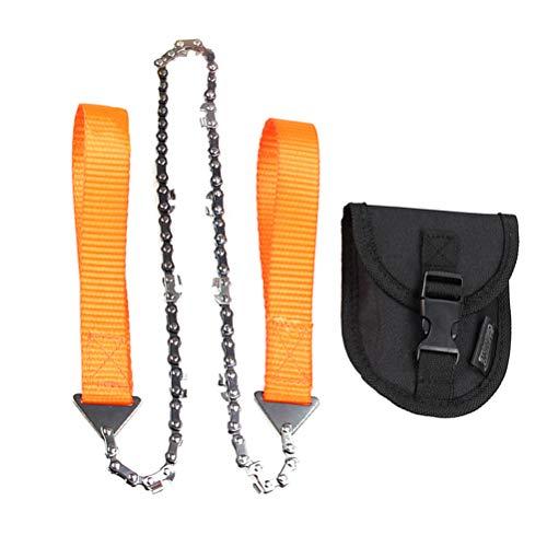 LIOOBO Scie à Main Scie à élagage scie à chaîne avec étui de Rangement pour Camping Wilderness Survival (Orange)