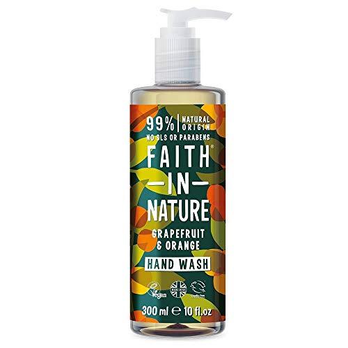 La fe en la naturaleza orgánica de pomelo y naranja Citrus Lavado de manos con 300ml de aceite
