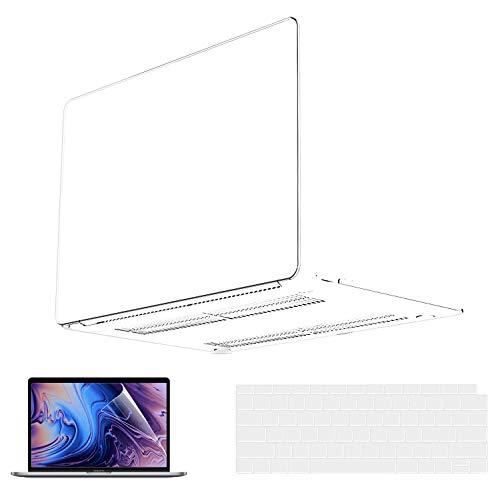Estuche para MacBook Pro de 13 pulgadas 2020 a 2016 Versión A2338 M1 A2251 A2289 A2159 A1989 A1708 A1706 Estuche rígido de plástico & Protector de pantalla & Cubierta del Touchpad