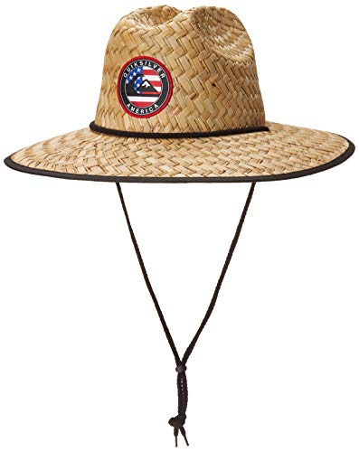 Quiksilver Men's Outsider Merica Sun Protection HAT, Natural, L/X-Large